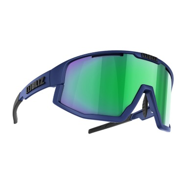 [S52101-37] Vision (Matt Dark Blue) - Brown w Green Multi [Size]